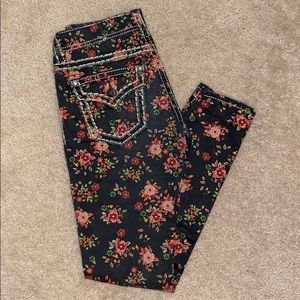 Women's Miss Me Ankle Skinny, Floral Jeans Size 26